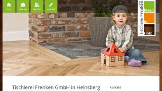 Tischlerei Frenken Webseite Webdesign